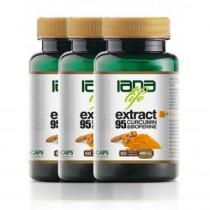 Pachet Triplu 60 Extract95 Curcumin&Bioperine 3 x 60 capsule